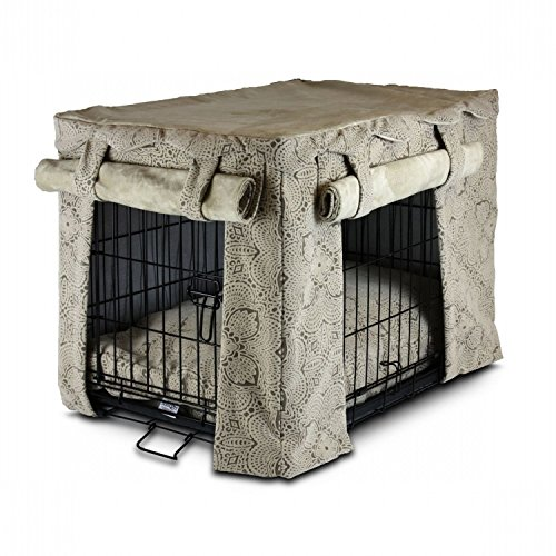 Snoozer Cabana Pet Crate Cover With Pillow Dog Bed, X-Large, Amulet Shell front-909113