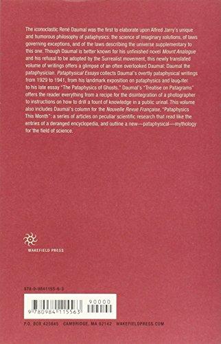 Pataphysical Essays (Imagining Science)