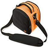 51eFyhkDVPL. SL160  Elegant Laurel Handbag Camera Bag with Rear Accessory Pocket and Shoulder Strap for Nikon Coolpix Digital Camera L24 L120 S3100 S4100 S6100 S9100
