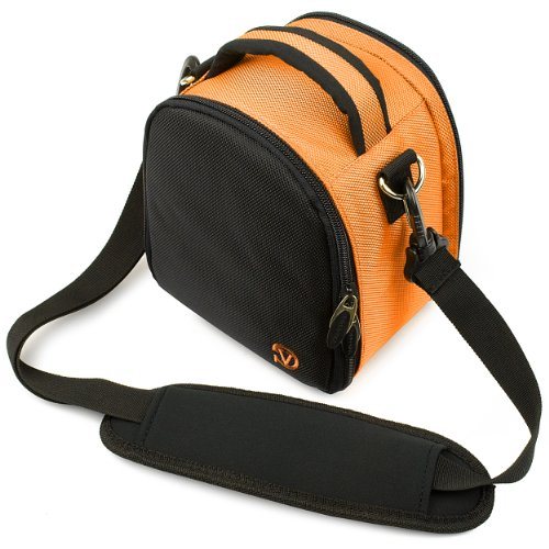 Vangoddy discount duty free Citrus Orange VanGoddy Laurel SLR Camera Carrying Bag for Nikon D3300 24.2 MP CMOS Digital SLR Camera