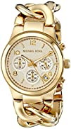 Michael Kors Womens Runway Gold-Tone Watch MK3131