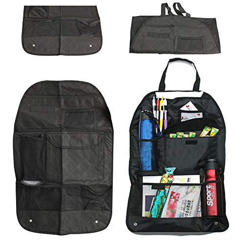 Vktech Car Auto Back Seat Organizer Bags Assorted Bag Pocket Black