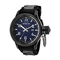 Invicta Men's 0554 Russian Diver Collection Carbon Fiber Black Rubber Watch from Invicta