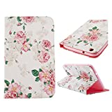 BestCool Smart Cover Leather Case Ultra Slim Case leather bag style landscape Countryside Style Pink Flower Pink Flower Design Bag Case for the Samsung Galaxy Tab 8.0 3 SM-T310 T311 T315 Tablet Protective Skin Case Cover Shell with Stand Function Tablet