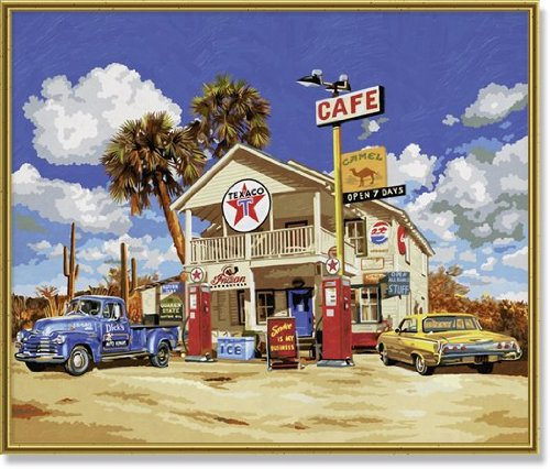 Schipper Old American Gas Station Paint by Number