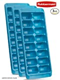Rubbermaid Easy Release Ice Cube Tray Aqua - Pack of 3