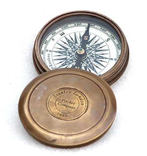 Vintage Style Maritime Collectible Compass Brass Finish 1
