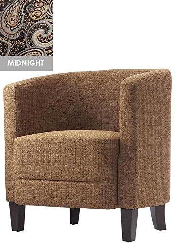 "Vincent Barrel Chair, 31.5""X27X23"", Midnight"