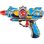 Herefind Guns With Flashing Night Light & Blasting Sounds Toy Guns Classic Toys For Kids Blue