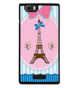 Fuson Premium 2D Back Case Cover Eiffel tower With black Background Degined For Micromax Canvas Nitro 2 E311::Micromax Canvas Nitro 2 (2nd Gen)