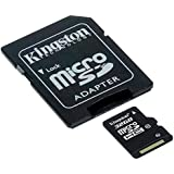 Kingston SDC10/32GB Carte micro SDHC/SDXC Classe 10 UHS-I de 32Go vitesse minimum de 10MB/s avec adaptateur SD