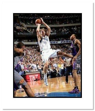 "Dirk Nowitzki Dallas Mavericks Nba ""2006 Playoffs Shooting"" Double Matted 8"" X 10"" Photograph"