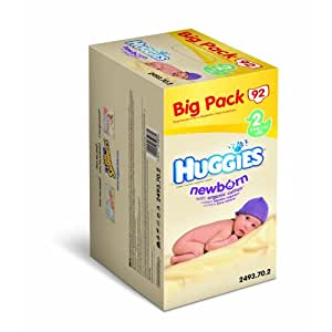 Huggies - 2493707 - New Born Big Pack - Taille 2 - 3-6 kg x 92 Couches