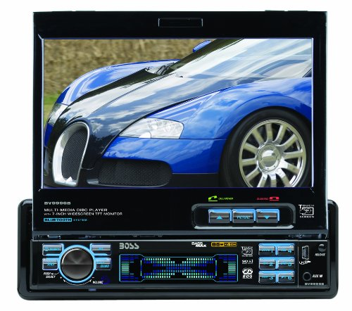 "Boss BV9996B In-Dash 7"" DVD/MP3/CD Widescreen Receiver with USB, SD Card, Bluetooth and Front Panel AUX Input (Detachable Front Panel)"