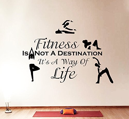 Wall Decals Quotes Sport Fitness Is Not A Destination Vinyl Sticker Gym Living Room Bedroom Decal Home Decor Art Murals DA3800