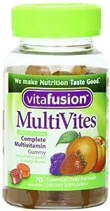 Vitafusion Multi Vites Gummy Vitamins, Berry, Peach and Orange - 70 Gummies