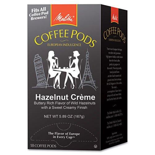 Melitta® - Coffee Pods, Hazelnut Cream (Hazelnut), 18 Pods/Box - Sold As 1 Box - Individually foil wrapped and nitrogen flushed for freshness.