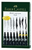Faber-Castell Black Wallet - 8 Assorted Pitt Pen Nibs Art Set
