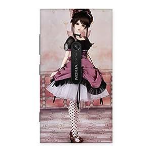 Cute Dancing Girl Multicolor Back Case Cover for Lumia 920