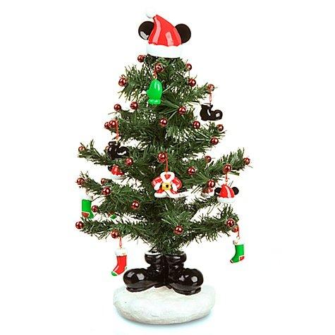 miniature santa mickey mouse christmas tree with mailer