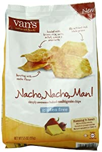 Van's Gluten Free Multigrain Chips, Nacho, Nacho Man, 5.5 Ounce
