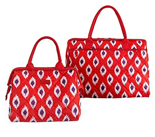 sachi-red-ikat-2pc-insulated-tote-and-lunch-bag-hold-up-to-56-cans