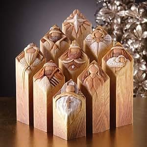 Pillars Of Heaven Nativity Set by Kim Lawrence Dept 56 Christmas Jesus
