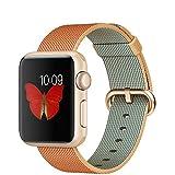 Apple Watch Sport Aluminium Gold-Red, Gewebtes Nylonarmband, MMF52FD/A, 38mm