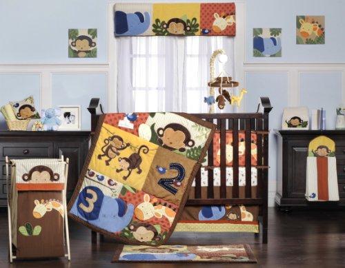 Kids Line Jungle 1-2-3 Six Piece Crib Bedding Set