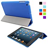 Snugg iPad Mini 1 / 2/ 3 Ultra Thin Smart Case in Electric Blue - Flip Stand Cover with Auto Wake and Sleep for Apple iPad Mini, iPad Mini 2 and iPad Mini 3