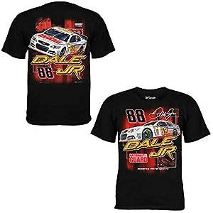 NASCAR Dale Earnhardt Jr. #88 National Guard Burnout Black Adult T-Shirt by NASCAR