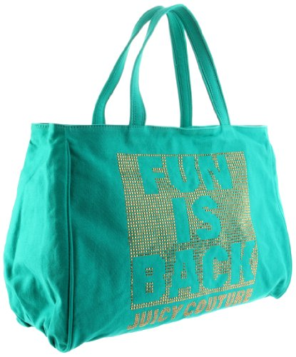 Juicy Couture Fun is Back Canvas Zip Tote Beetle