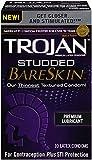 Trojan Studded Bareskin Premium Lubricated Condoms, 10count