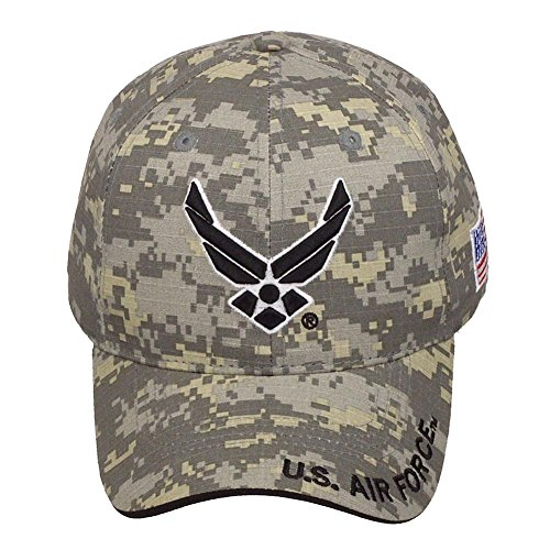 official-licensed-us-air-force-with-us-flag-adjustable-velcro-back-cotton-cap-hat-digital-camo