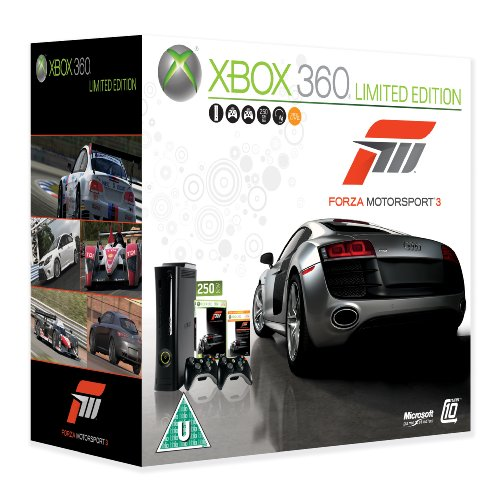 Xbox 360 Super Elite Console (250 GB Hard Drive) with Forza 3 (Xbox 360)