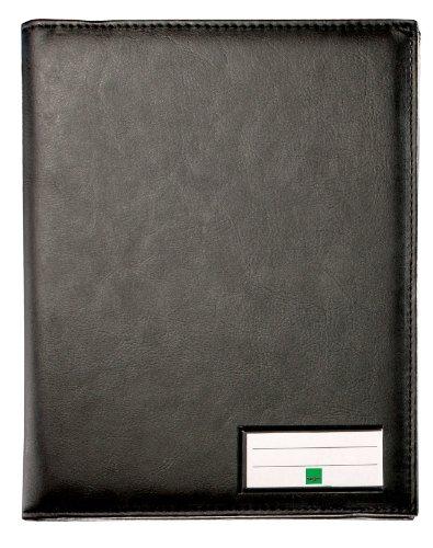 Sigel EF510 - Carpeta para formularios con bolsillos interiores y sujetabolígrafos (plástico, mate, A5), color negro