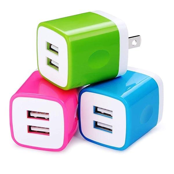 USB Plug, Charging Plug HopePow 3-Pack USB 5V/2.1A Wall Charger Adapter Plug Compatible for Samsung Galaxy, LG, HTC,Moto, Kindle, MP3, Google Pixel, N