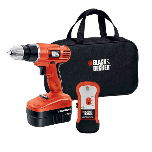 Black & Decker GCO18SFB 18-Volt Ni-Cad 3/8-Inch Cordless Drill/Driver with Storage Bag and Stud Sensor