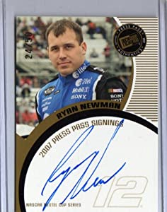 Buy 2007 Press Pass Autographs Ryan Newman Gold #24 50 Nascar by Press Pass
