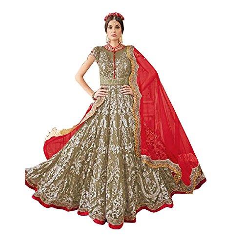 INDIAN BOLLYWOOD DESIGNER ANARKALI SALWAR KAMEEZ SUIT DUPATTA PARTY WEAR BRIDAL WEDDING