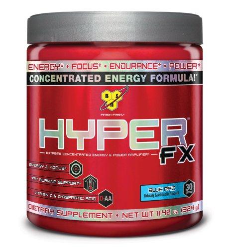 BSN Hyper FX Dietary Supplement, Blue Raspberry, 324 Grams