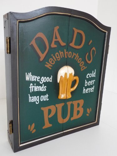 """Dartschrank Dartboard Dartscheibe Dart Retrolook """"Dad's Pub"""