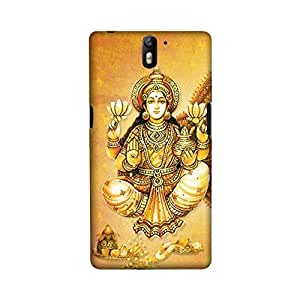 OnePlus One Perfect fit Matte finishing Lakshmi Religious Mobile Backcover designed by Aaranis(Multicolor)