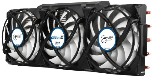 ARCTIC Accelero Xtreme III - High-End Graphics Card Cooler - nVidia & AMD, 3 Quiet 92mm PWM Fans, SLI/CrossFire, Support GTX 1080, GTX 1070, GTX 1060, GTX 980 Ti, GTX Titan X, RX 480, R9 390X, R9 290X and more... (Arctic Cooling Accelero Hybrid Ii compare prices)