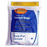 Euro-Pro Vacuum Bags for Canister Vacuums, 10 Pack