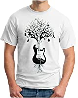 OM3 - GUITAR TREE ROOTS - T-Shirt INSTRUMENTS BASS DRUMS KEYBOARDS AUDIO MUSIC, S - 5XL