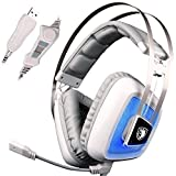 SADES A8 7.1 Surround Sound Over Ear USB Gaming Headphone With Microphone Vibration Noise Isolation LED Light...