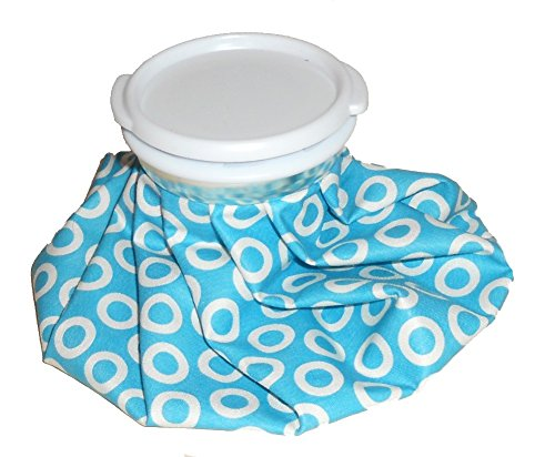 Reuseable theraputic therapy cool compress ICE PACK bag – Hot or Cold – 7.5″ (Blue & White circles)