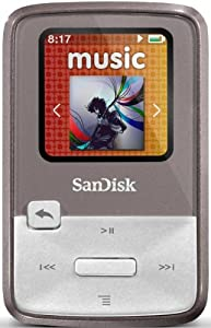 SanDisk Clip Zip 8GB MP3 Player with FM Radio - Grey (discontinued by manufacturer)