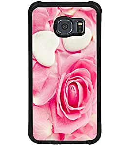 ColourCraft Heart and Flower Design Back Case Cover for SAMSUNG GALAXY S6